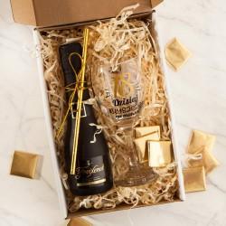 PREZENT na 18 urodziny Box Z IMIENIEM wino musujęce+kieliszek