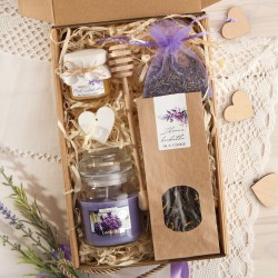 BOX dla Świadkowej Z IMIENIEM Herbatka+miodek Lawenda
