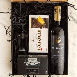 PODZIĘKOWANIE dla Rodziców Z PODPISEM Wino i Merci CZARNY