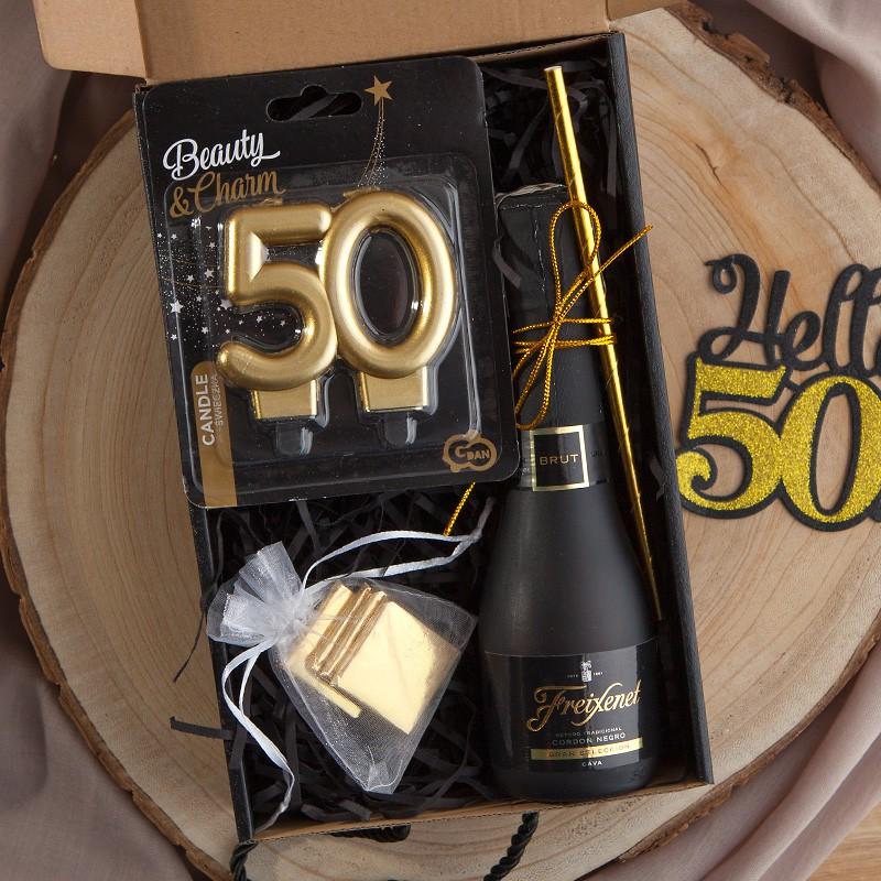 Prezent na 50 urodziny box prezentowy