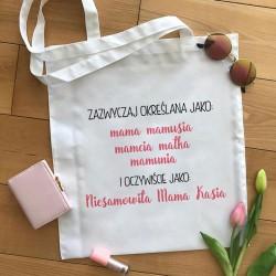 TORBA na zakupy dla Mamy Z IMIENIEM Mama Synonimy