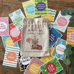PREZENT na Baby Shower dla Mamy i dziecka Karteczki do zdjęć 32 napisy