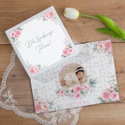 PUZZLE na prezent w pudełku Kocham Cię Tatusiu ZE ZDJĘCIEM 35el Róż