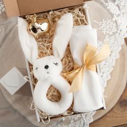 PREZENT na narodziny/Chrzest Z IMIENIEM Gryzak króliczek