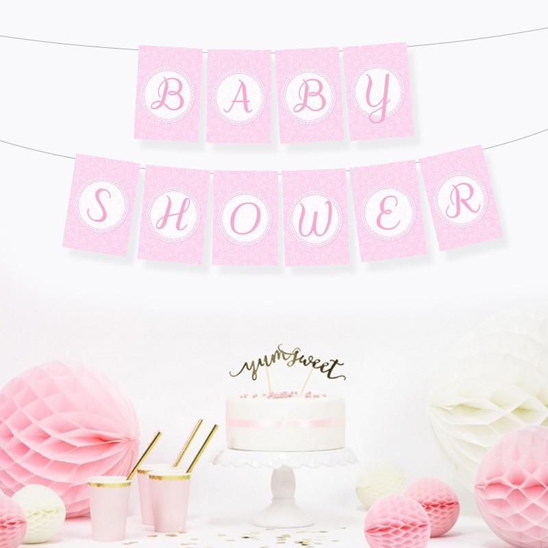 Baner na Baby Shower dziewczynki