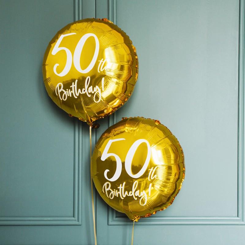 balon foliowy na 50 urodziny