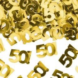 KONFETTI metaliczne na 50 urodziny