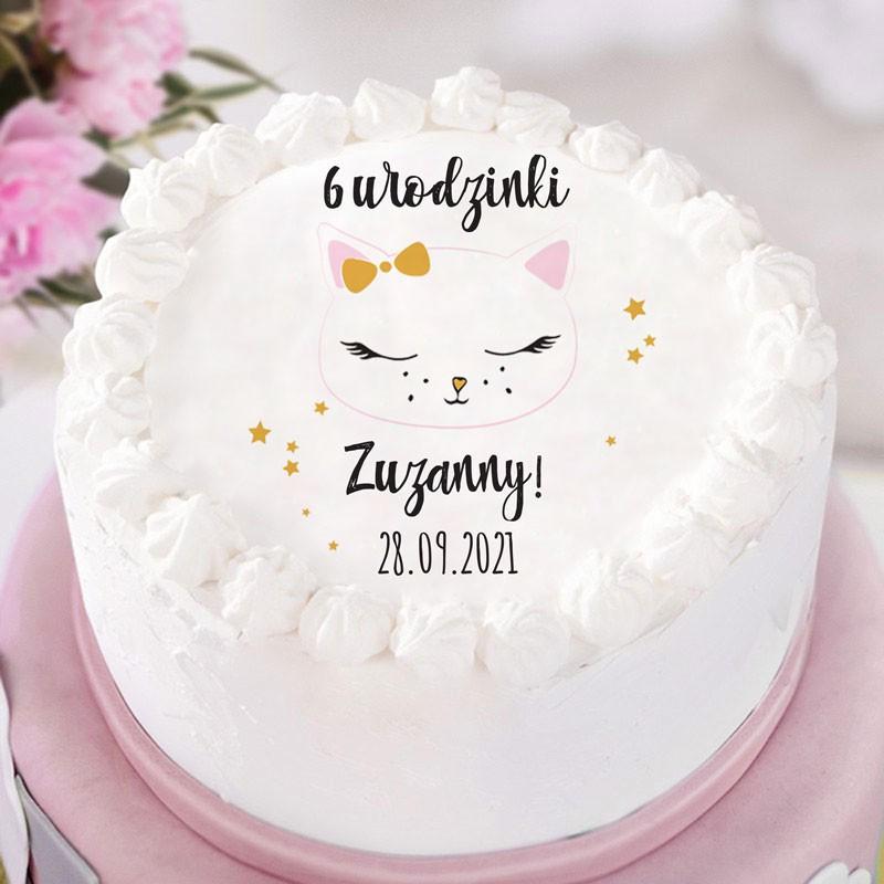 Opłaek na tort na urodzinki dziewczynki