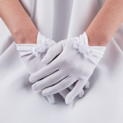 RĘKAWICZKI komunijne Biała Hostia (6)
