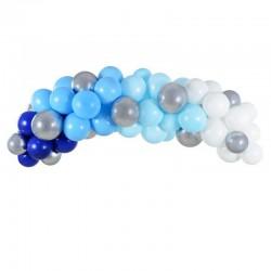 GIRLANDA balonowa zestaw 60 balonów+taśma Błękitna