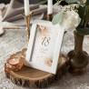 DEKORACJA stołu na 18 Urodziny tabliczka Pampas Boho (+biała ramka)