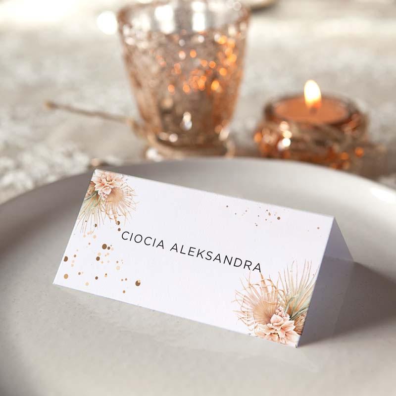 personalizowane winietki na stół