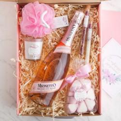 PREZENT na 18,30,40 urodziny Z IMIENIEM różowe Prosecco Relaks LUX