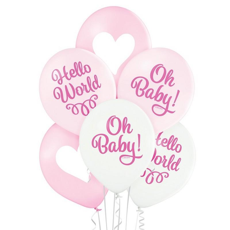 Balony na narodziny dziewczynki różowe