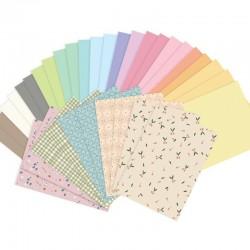 ZESTAW papierów kolorowych A4 Wycinanki 34szt PUDROWE