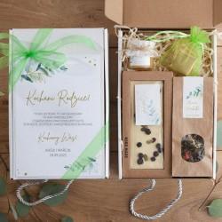 PODZIĘKOWANIE dla Rodziców Z IMIONAMI Gałązka Eukaliptusa z czekoladą