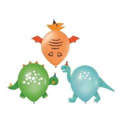 BALONY na Roczek i Urodzinki Dinozaury EFEKT 3D 3szt