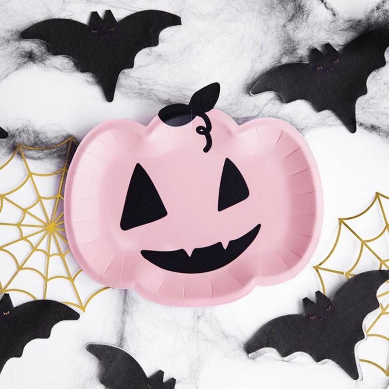 Papierowe talerzyki na Halloween dynie