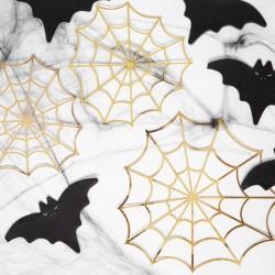 DEKORACJE na Halloween Złote Pajęczyny