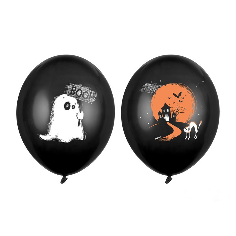 Kolorowe balony na Halloween