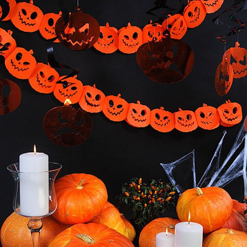 Baner na Halloween w dynie