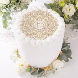OPŁATEK uniwersalny na tort IHS Exclusive DUŻY Ø20cm (27)