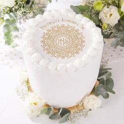 OPŁATEK uniwersalny na tort z napisem IHS Exclusive Ø20cm (28)