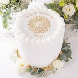 OPŁATEK personalizowany na tort komunijny IHS Exclusive Ø20cm