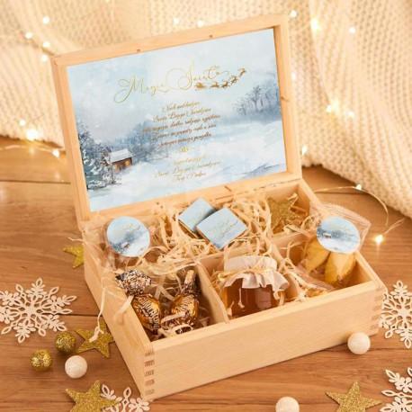 MIODY dla Dziadków w drewnianym nosidle Kremowe Anemony
