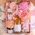 KOSZ prezentowy świąteczny z winem musującym Z PODPISEM Mega Róż