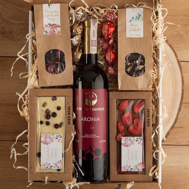 Zestaw świąteczny z winem dla kobiety