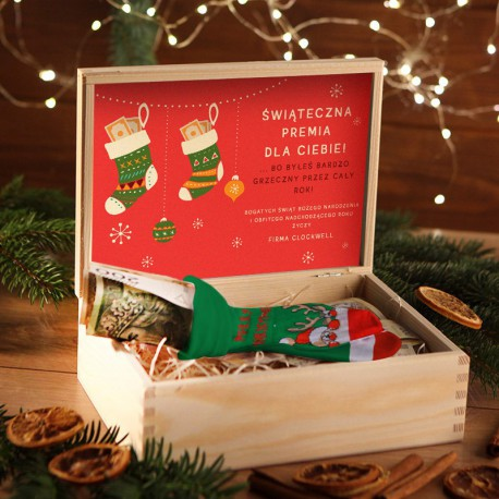 ZESTAW ŚWIĄTECZNY w skrzyni Bogate Święta Z LOGO