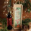 WINO W SKRZYNI 750ml śliwkowe EKO na prezent firmowy w drewnianej skrzyni Wesołe Święta Z LOGO