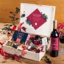 ZESTAW świąteczny firmowy w skrzyni prezent Czarna porzeczka i Chilli Z LOGO