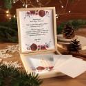 OPŁATEK wigilijny w drewnianym pudełku Świąteczny Klimat Z LOGO 5 sztuk