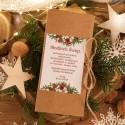 PUDEŁKO na czekoladę prezent firmowy kraft Naturalne Święta (+sznurek)