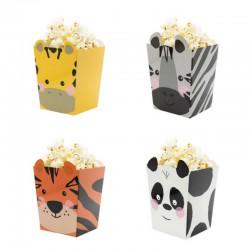PUDEŁKA na Popcorn 4szt Zwierzątka