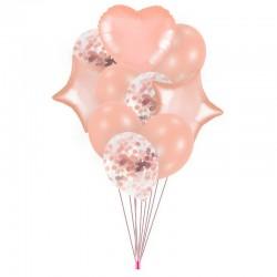 ZESTAW balonów na urodziny, baby shower Rosegold NEW