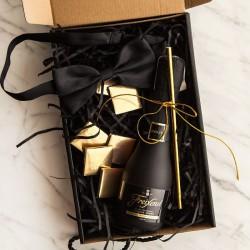 PREZENT dla Świadka pudełko Z IMIENIEM Z winem Cava LUX
