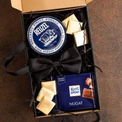 PREZENT dla Chłopaka pudełko Z IMIENIEM Pomada dla dżentelmena LUX