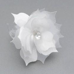 KLAMERKA do włosów Kwiatek z cyrkonią 5szt (5)