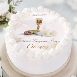 OPŁATEK personalizowany na tort Lilie Ø20cm