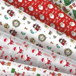 PAPIERY do pakowania prezentów świątecznych MIX 5szt