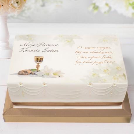 OPŁATEK personalizowany na tort Lilie 21x30cm