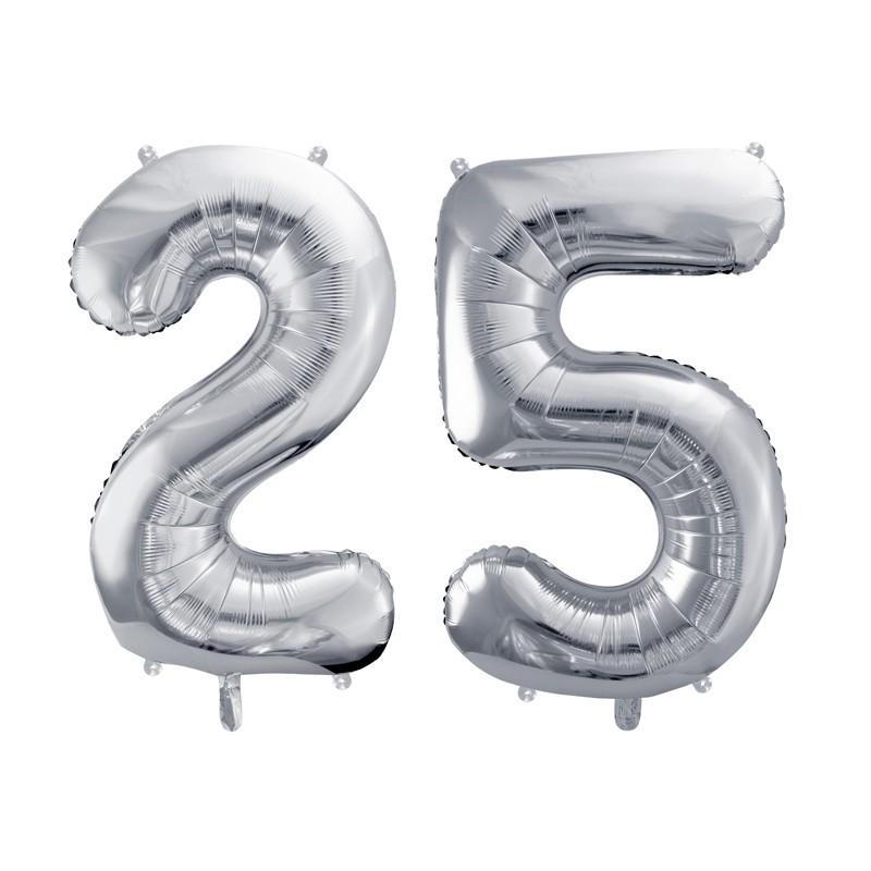 Balony na 25 rocznicę ślubu