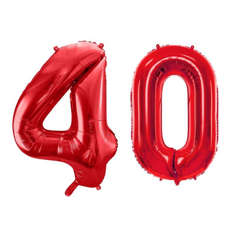 Foliowe balony w kształcie 40
