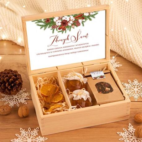 PREZENT świąteczny w skrzyni ZDROWE Święta UNIWERSALNY