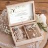PAMIĄTKA Bierzmowania Z IMIENIEM z kryształowym różańcem i woreczkiem Rustykalna