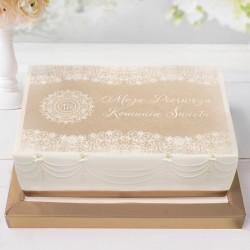OPŁATEK uniwersalny na tort Vintage Lace 21x30cm (16)