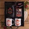 KOSZ prezentowy świąteczny dla pary Z PODPISEM Mega Box Folk